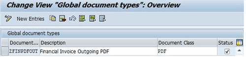 ABAP change view global document types 5