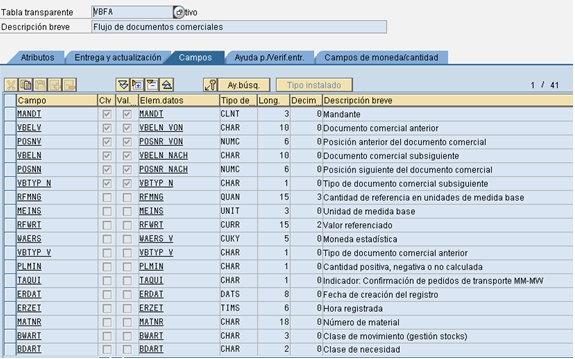 ABAP-flujo-documentos-tabla-transparente