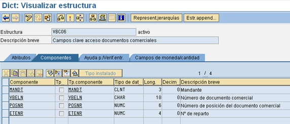 ABAP-flujo-documentos-visualizar-estructura