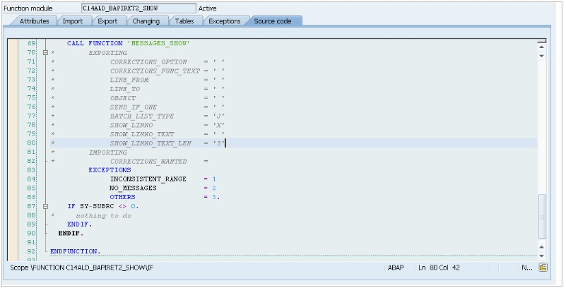 ABAP-function-module-message-codigo
