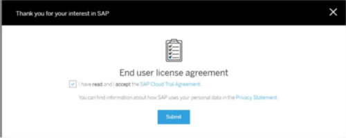 SAP S4HANA Trial   End User.License